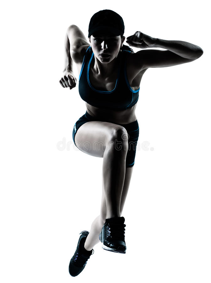 jogger skokowa biegacza kobieta zdjęcie royalty free