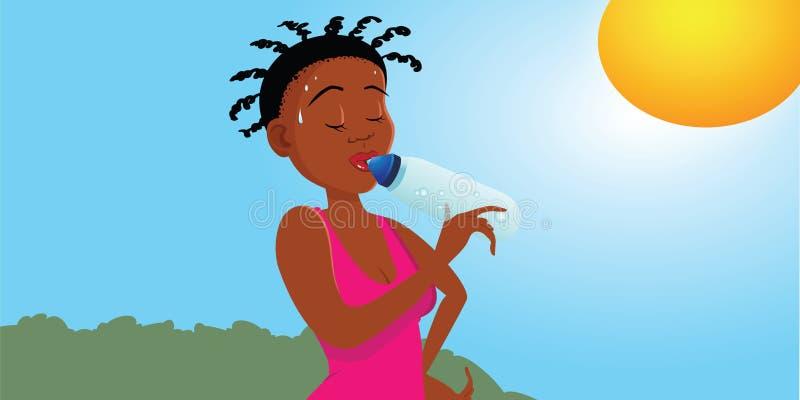 Jogger sweaty. Cartoon illustration of a sweaty jogger stock illustration
