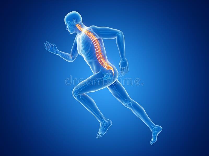 joggers kręgosłup ilustracji