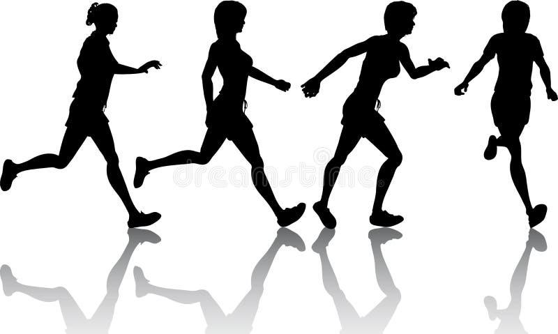 joggers płci żeńskiej ilustracja wektor