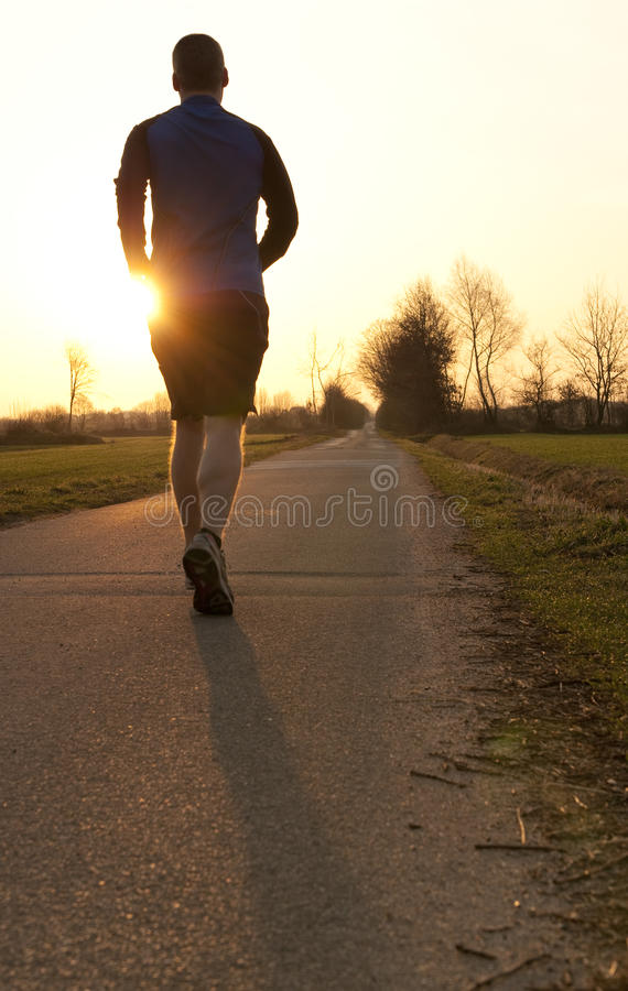 jogging ανατολή προς στοκ εικόνες με δικαίωμα ελεύθερης χρήσης