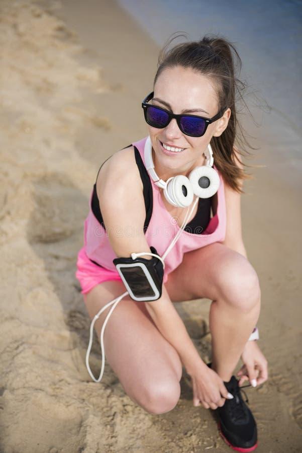 Jogging από τη γυναίκα στοκ εικόνα