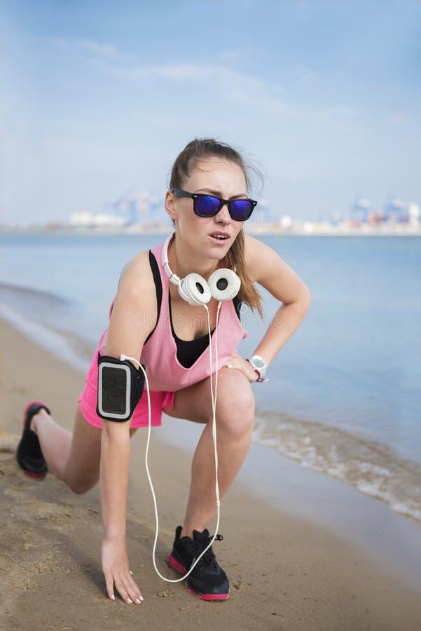 Jogging από τη γυναίκα στοκ φωτογραφίες
