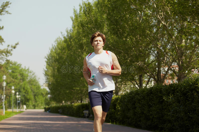 jogging πάρκο στοκ φωτογραφίες