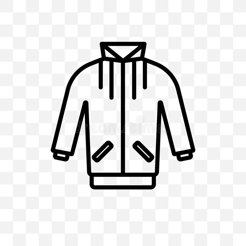jogging το διανυσματικό γραμμικό εικονίδιο σακακιών που απομονώνεται στο διαφανές υπόβαθρο, η jogging έννοια διαφάνειας σακακιών  διανυσματική απεικόνιση