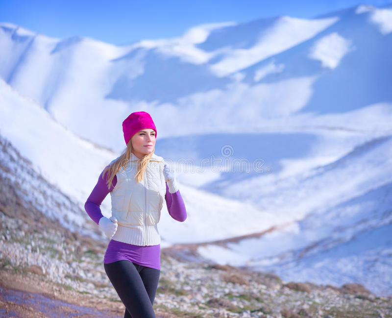 Jogging υπαίθρια στοκ φωτογραφίες