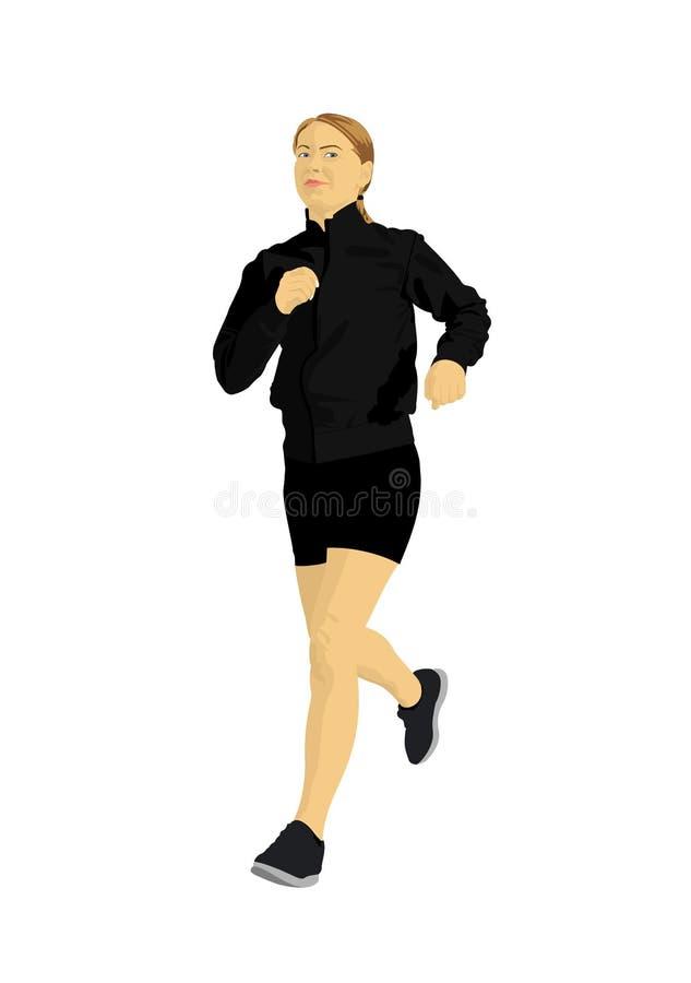 jogging женщина иллюстрация штока