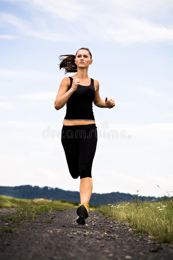jogging женщина стоковые изображения