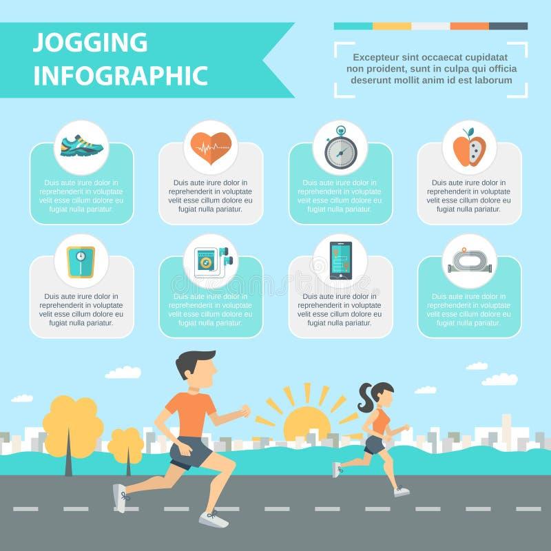 Jogging комплект Infographics иллюстрация штока