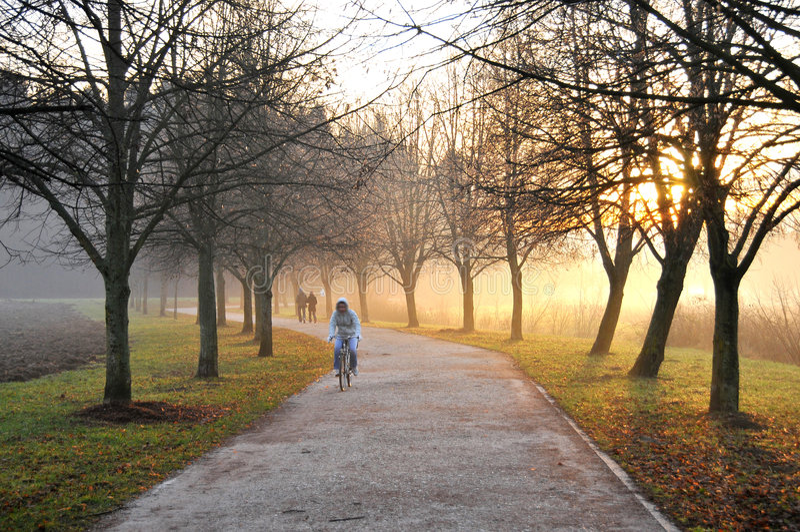 jogging след стоковое фото rf