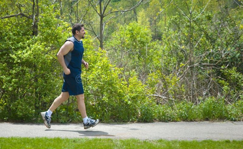 jogging человек мышечный стоковая фотография