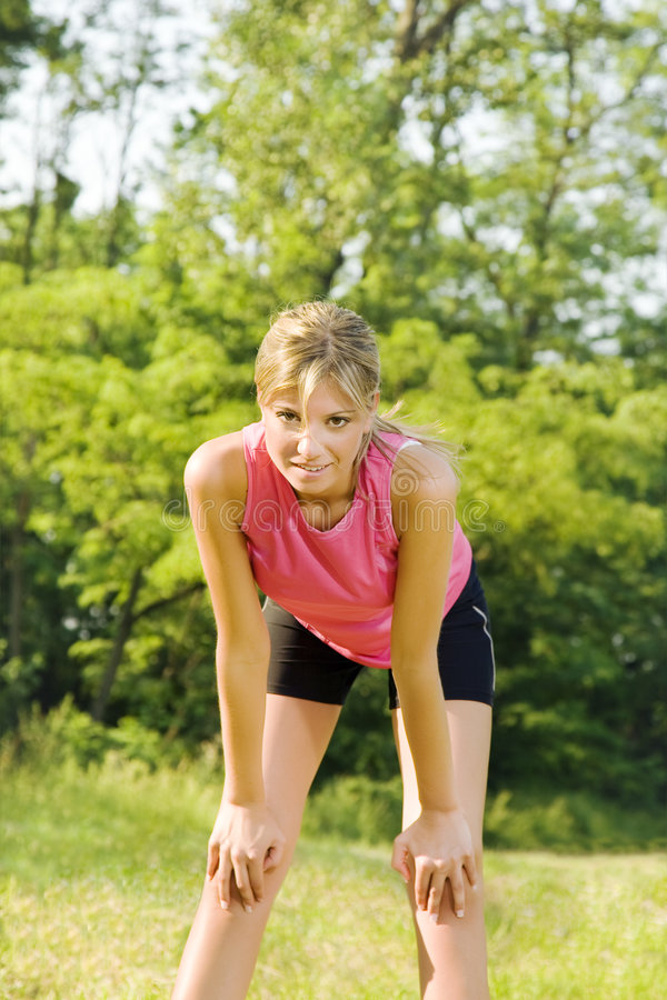 Jogging royalty free stock photos