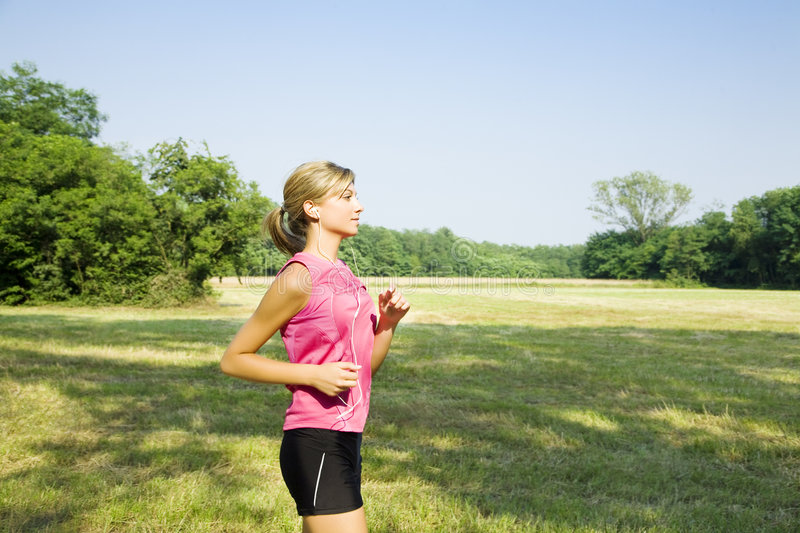 Jogging stock photography