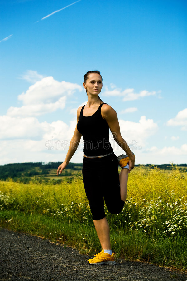 Jogging royalty free stock photo