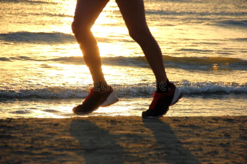 Download Jogging on the beach stock image. Image of lifestyle - 26414021