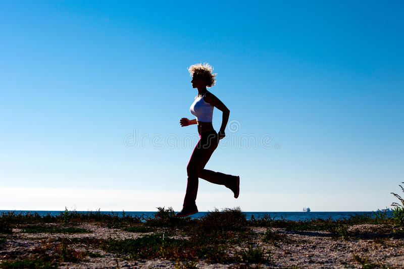 Download Jogging On The Beach stock photo. Image of outside, health - 30504796