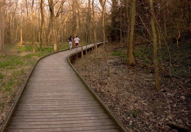 Download Jogging Couple stock image. Image of woman, teens, girl - 105899