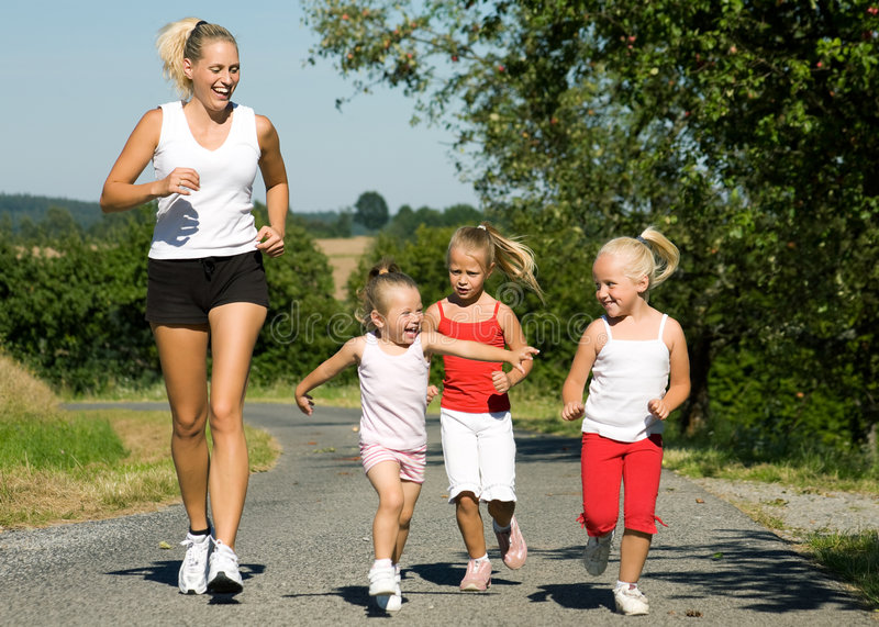 Download Jogging with the family stock photo. Image of jogging - 5688984