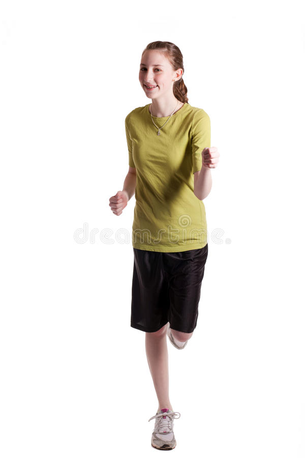 Download Jogging Girl stock image. Image of young, active, slender - 13530711