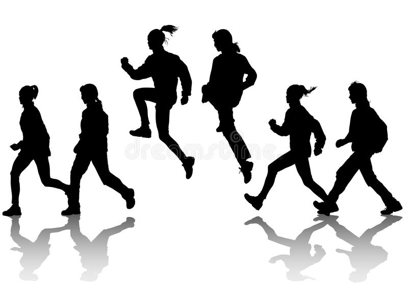 Download Jogging group women stock vector. Illustration of professional - 14330730