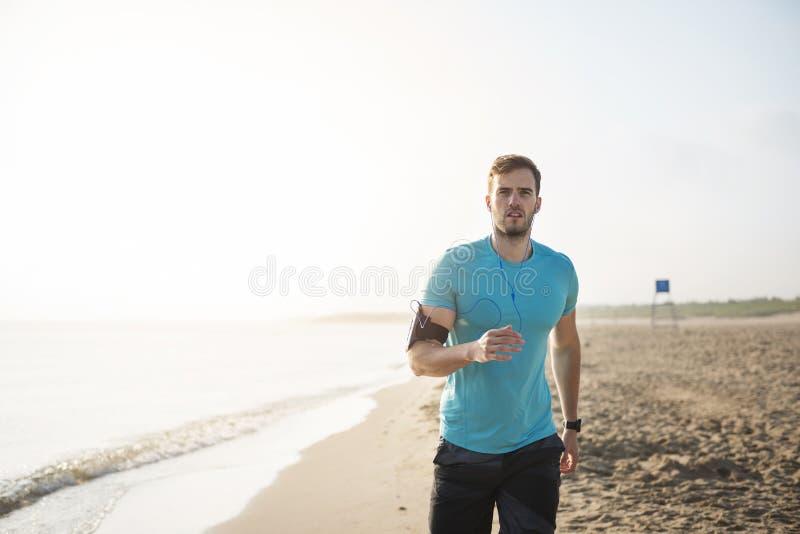 Jogging mężczyzna fotografia royalty free