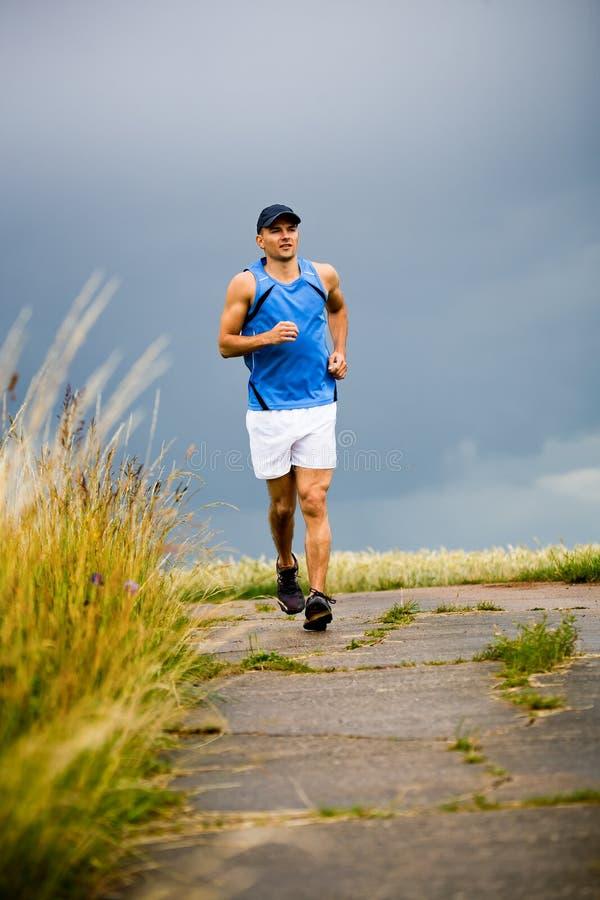 Jogging man royalty free stock photos
