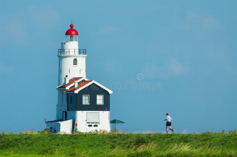 Jogging in summer royalty free stock photo