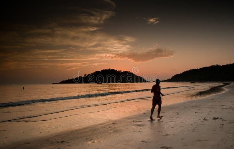Download Jogging at sunset stock photo. Image of shade, reflection - 12955984