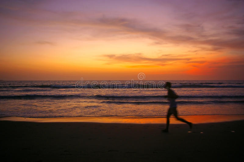 Download Jogging at Sunset stock photo. Image of beaches, backpacking - 13075664