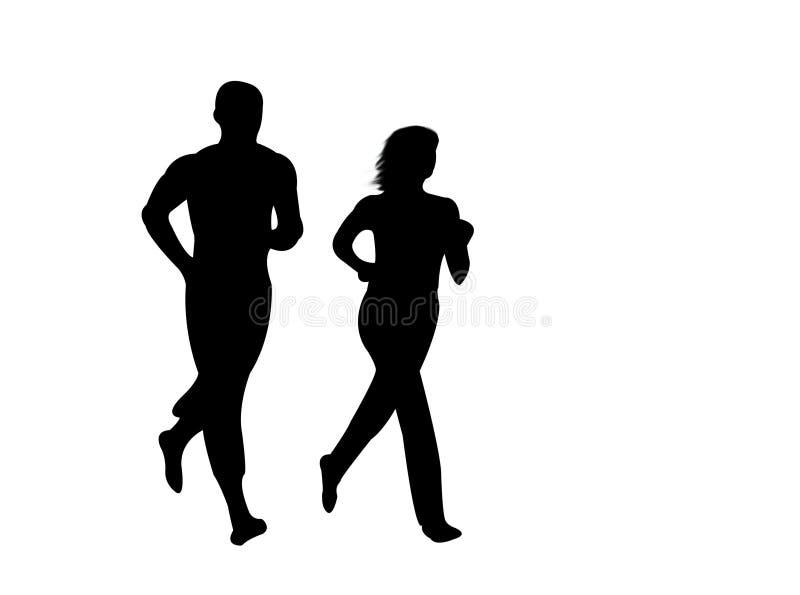 Jogging w słońcu ilustracja wektor
