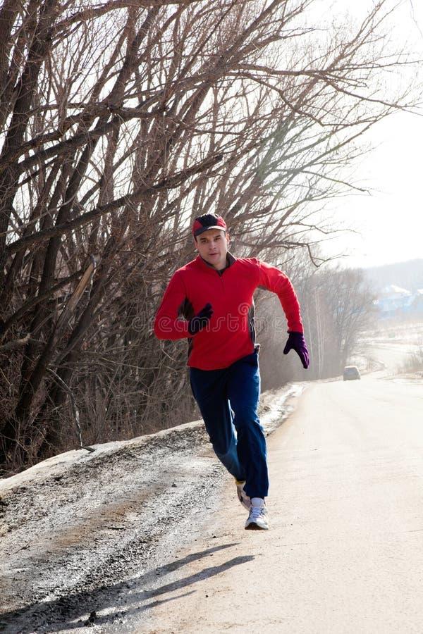 Jogging w zimie obraz stock