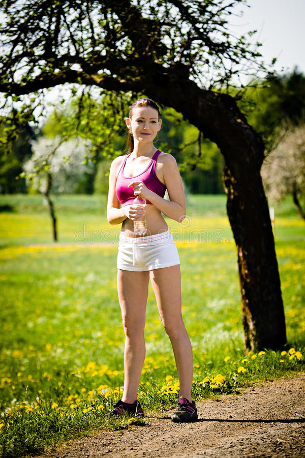 Download Jogging woman stock image. Image of competition, female - 22864677