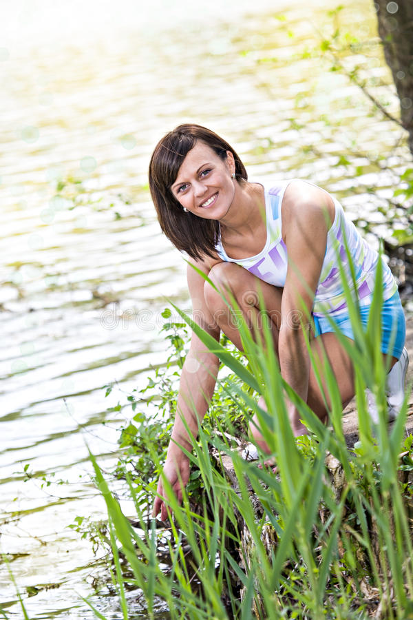 Download Jogging woman stock image. Image of water, competition - 24840351