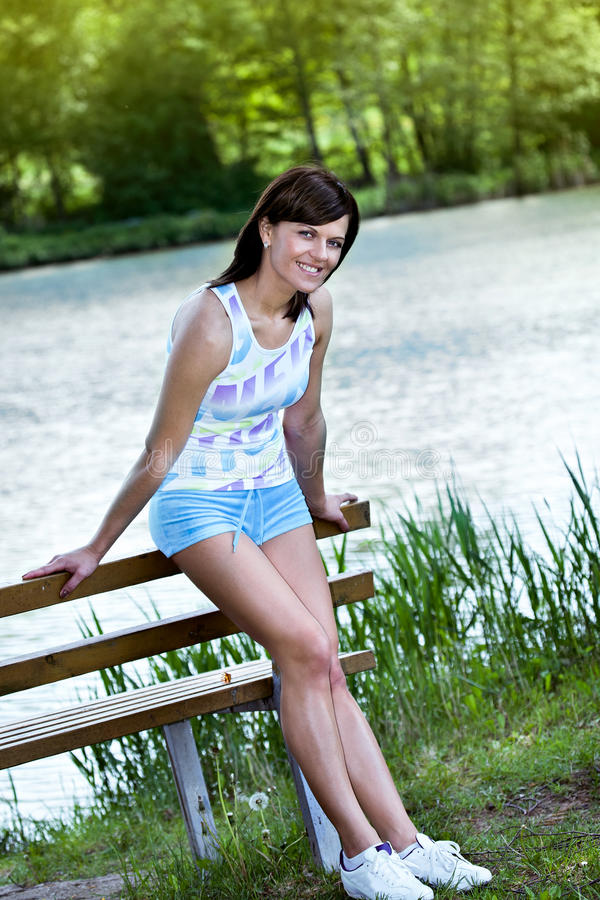 Download Jogging woman stock photo. Image of training, action - 24840398