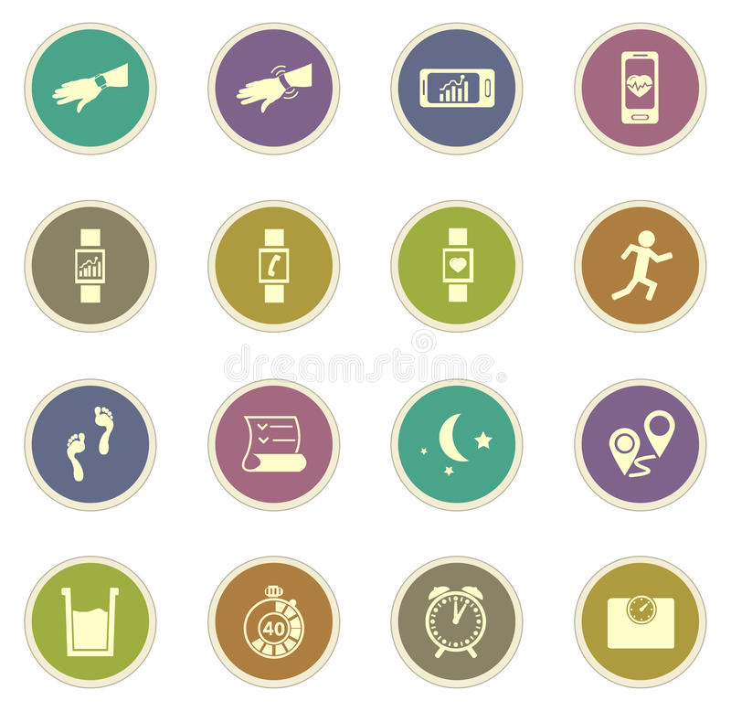 Jogging and workout icons stock photos