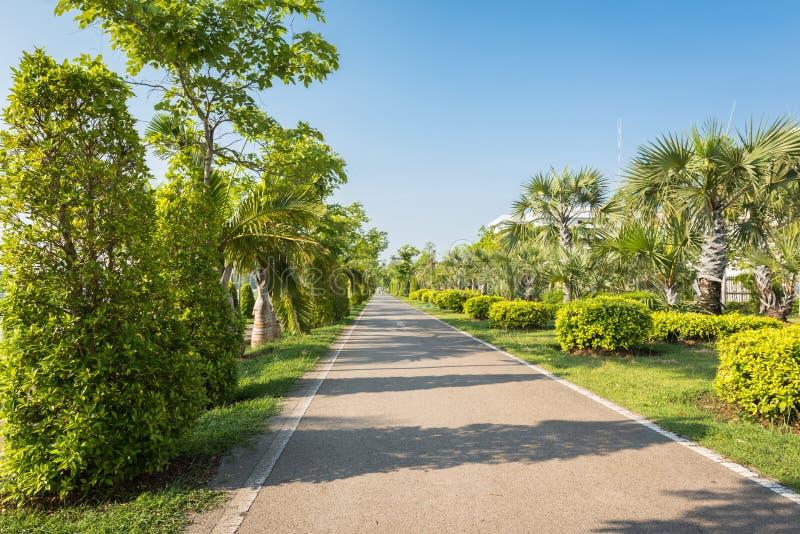Joggingspoor bij de tuin stock fotografie