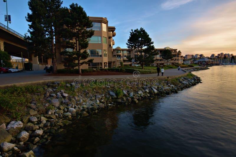 Joggingweg in Vancouver Canada royalty-vrije stock foto's