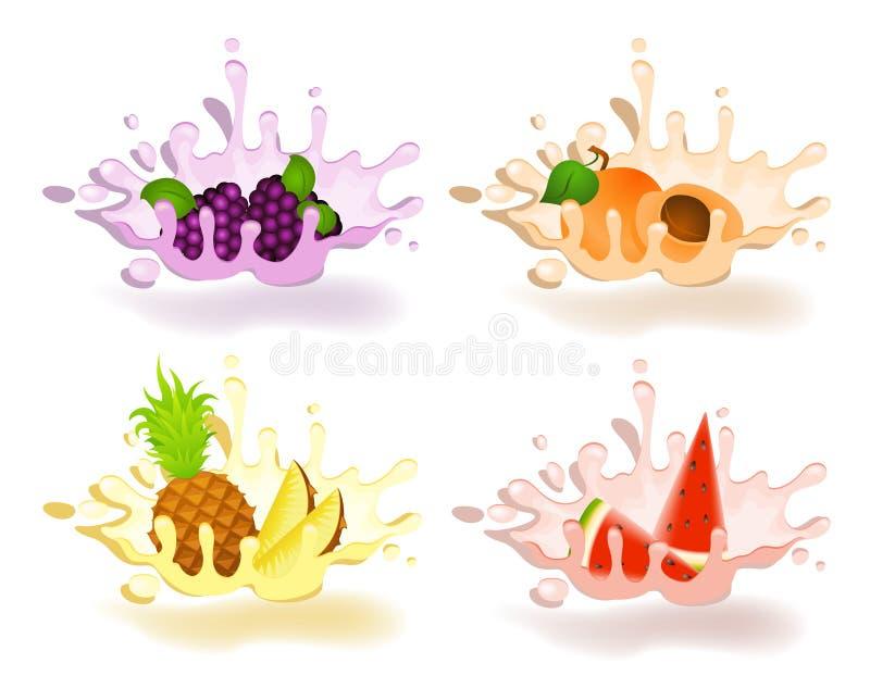 Joghurt mit frischer Frucht stock abbildung