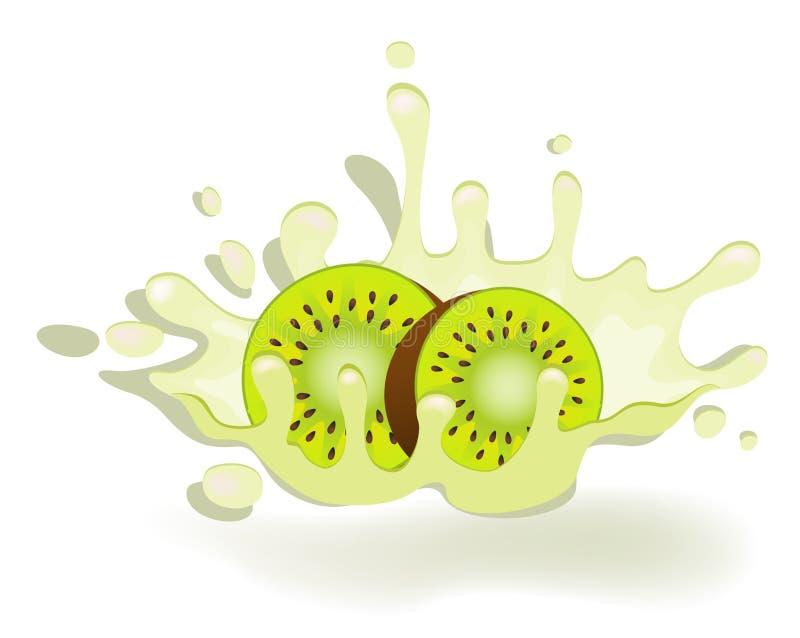Joghurt mit frischer Kiwi vektor abbildung