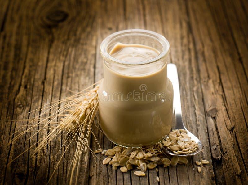 Joghurt mit Getreide stockbilder