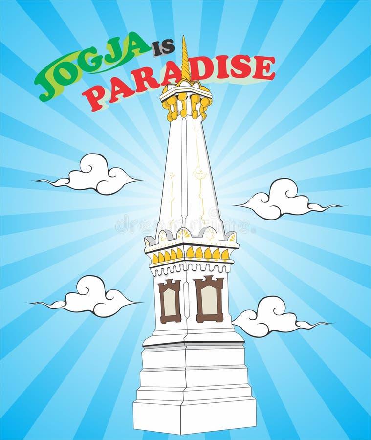 Jogja är paradiset royaltyfri illustrationer