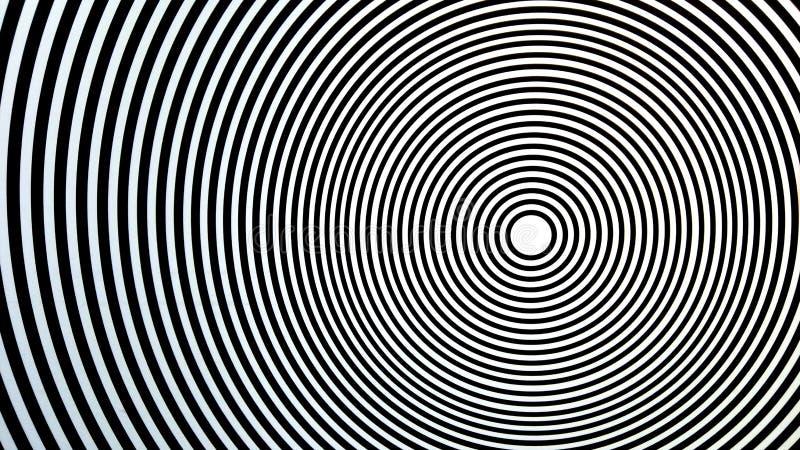 Jogo ótico complicado que parece móvel Círculos em círculos, em centro, em alvo de algo ou em bullseye foto de stock