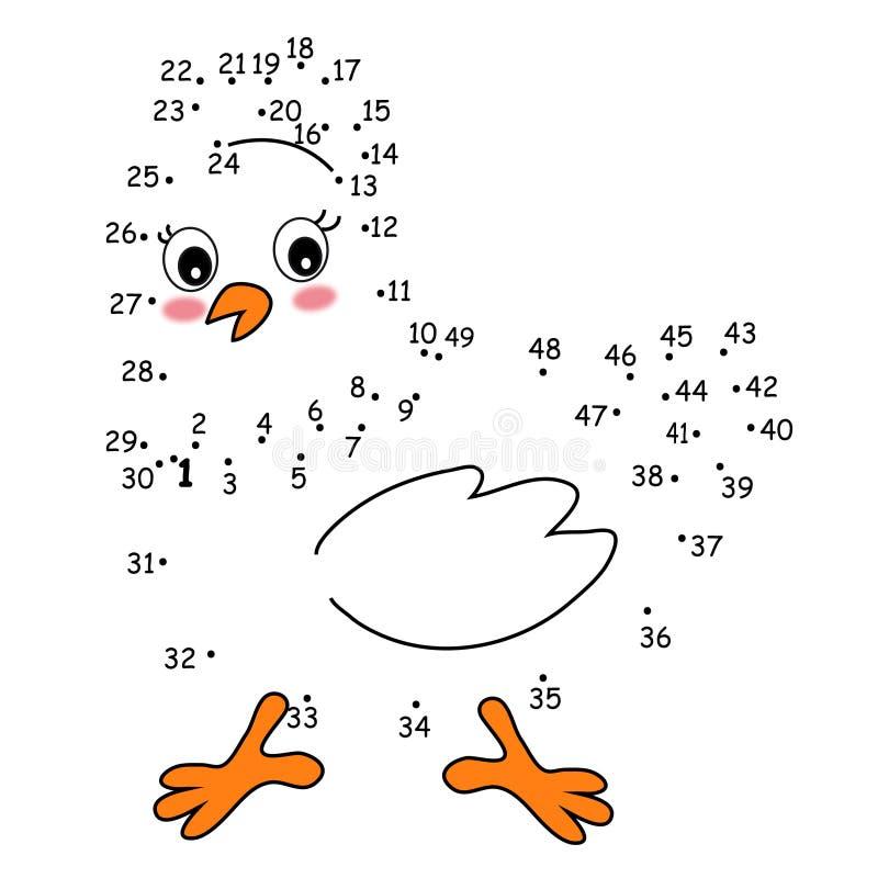 Jogo 149, a galinha ilustração royalty free