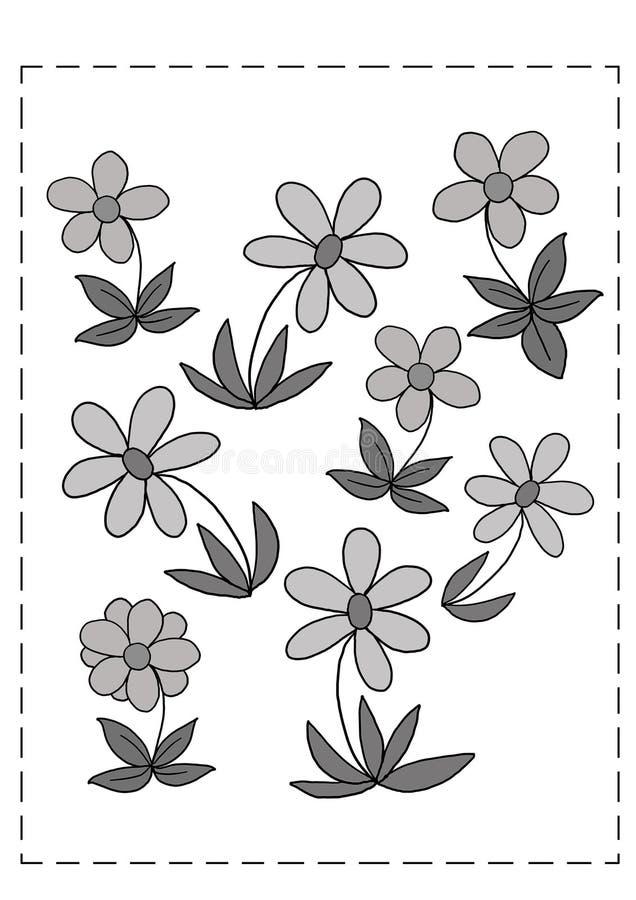 Jogo 94, flores ilustração royalty free