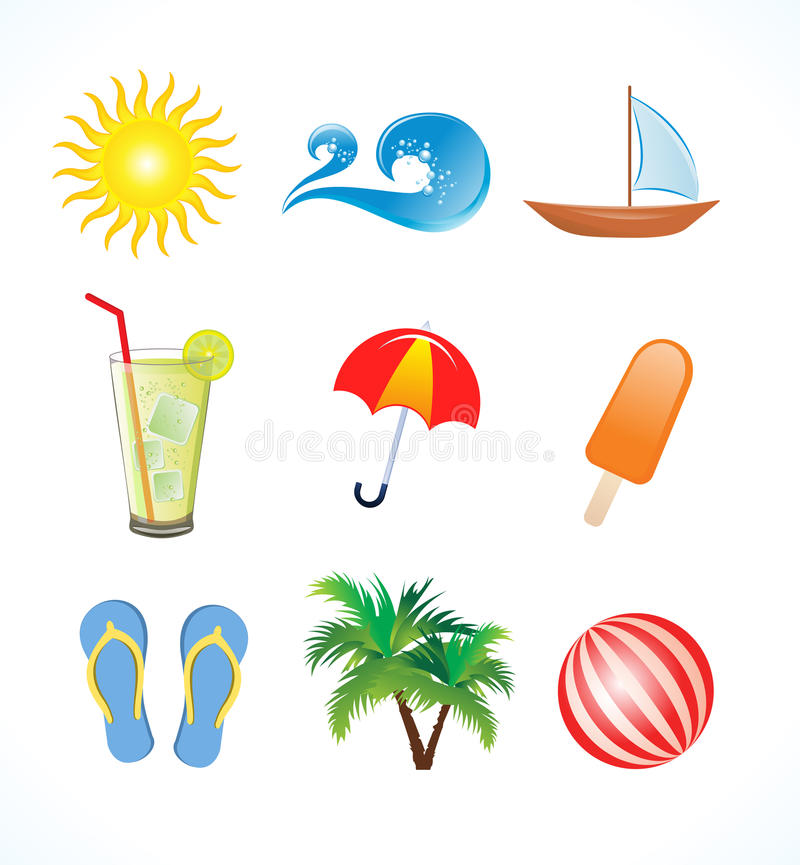 Jogo abstrato do ícone do verão ilustração royalty free