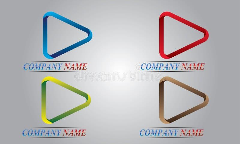 Jogo abstrato do logotipo ilustração stock