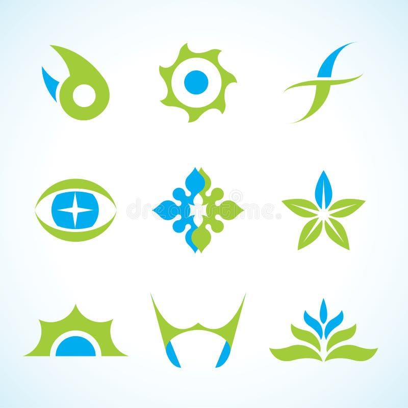 Jogo abstrato do logotipo do vetor ilustração do vetor