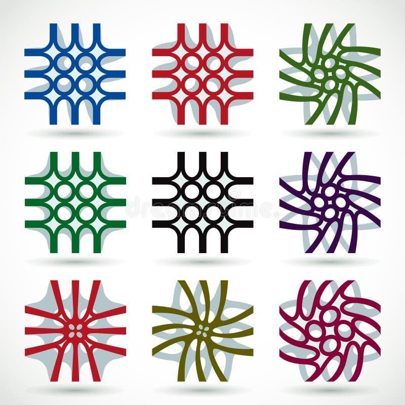 Jogo abstrato do projeto dos ícones do vetor. ilustração do vetor