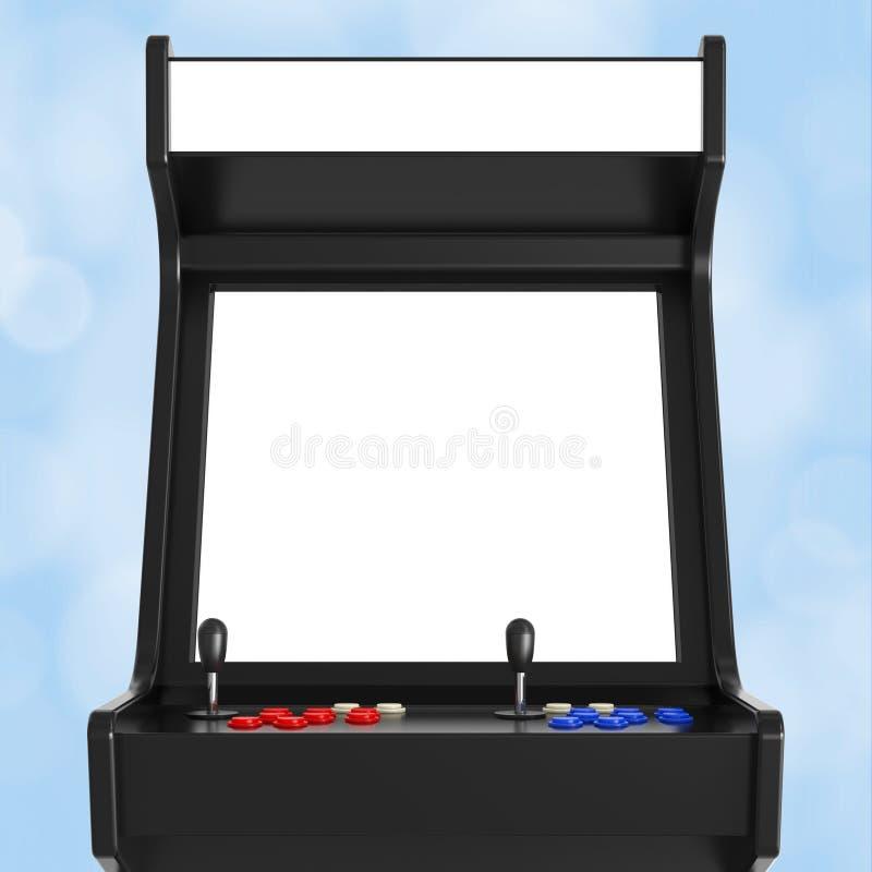 Jogo Arcade Machine com a tela vazia para seu projeto 3d arrancam ilustração stock