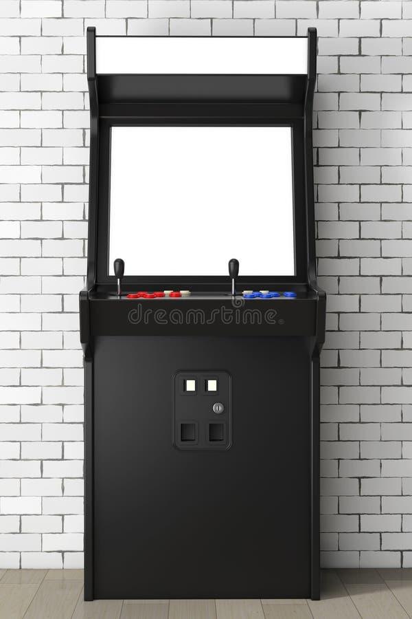 Jogo Arcade Machine com a tela vazia para seu projeto 3d arrancam ilustração royalty free